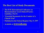 the best list of study documents