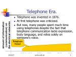 telephone era