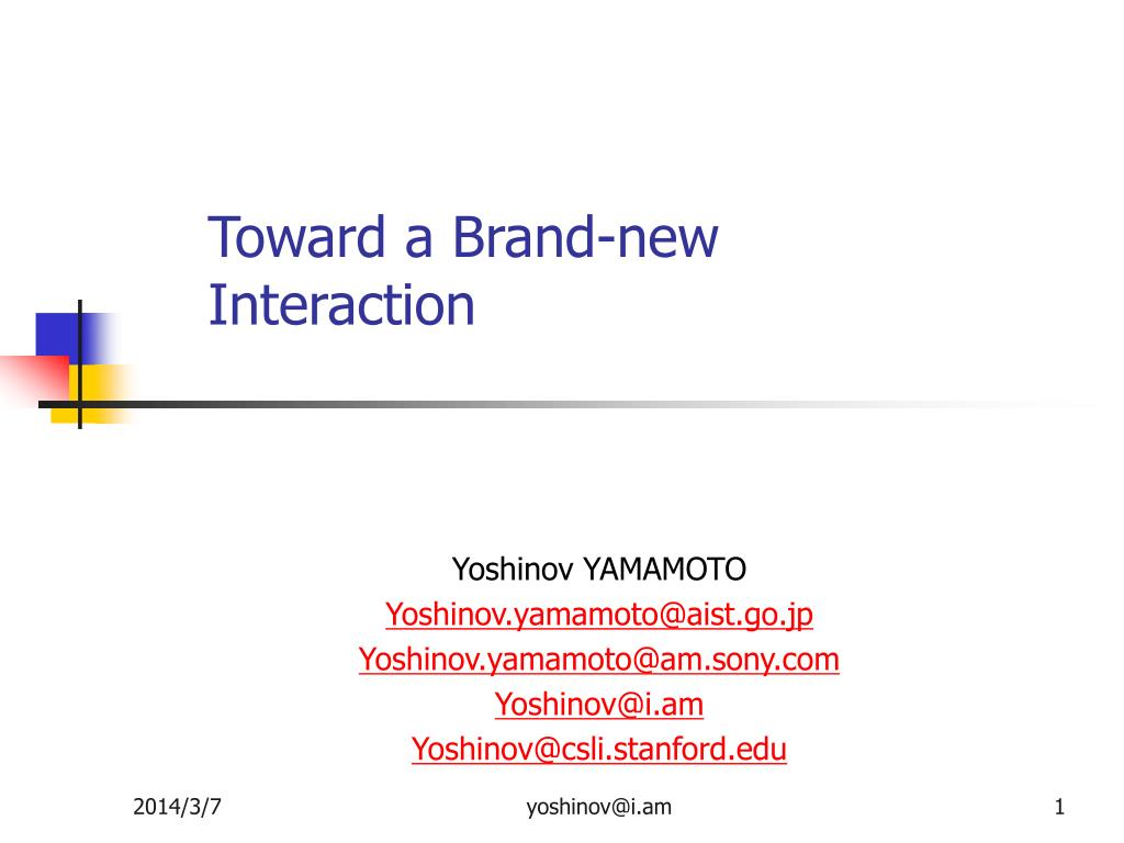 toward a brand new interaction l.