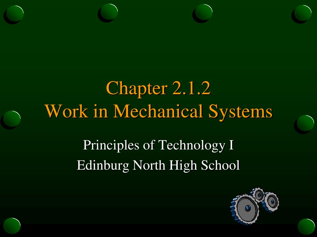 chapter 2 1 2 work in mechanical systems l.