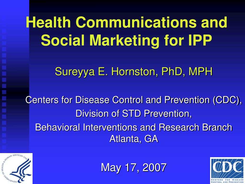 health communications and social marketing for ipp l.
