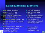 social marketing elements