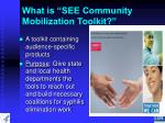 what is see community mobilization toolkit