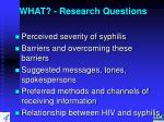 what research questions