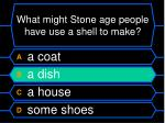 what might stone age people have use a shell to make32