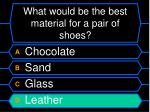 what would be the best material for a pair of shoes24