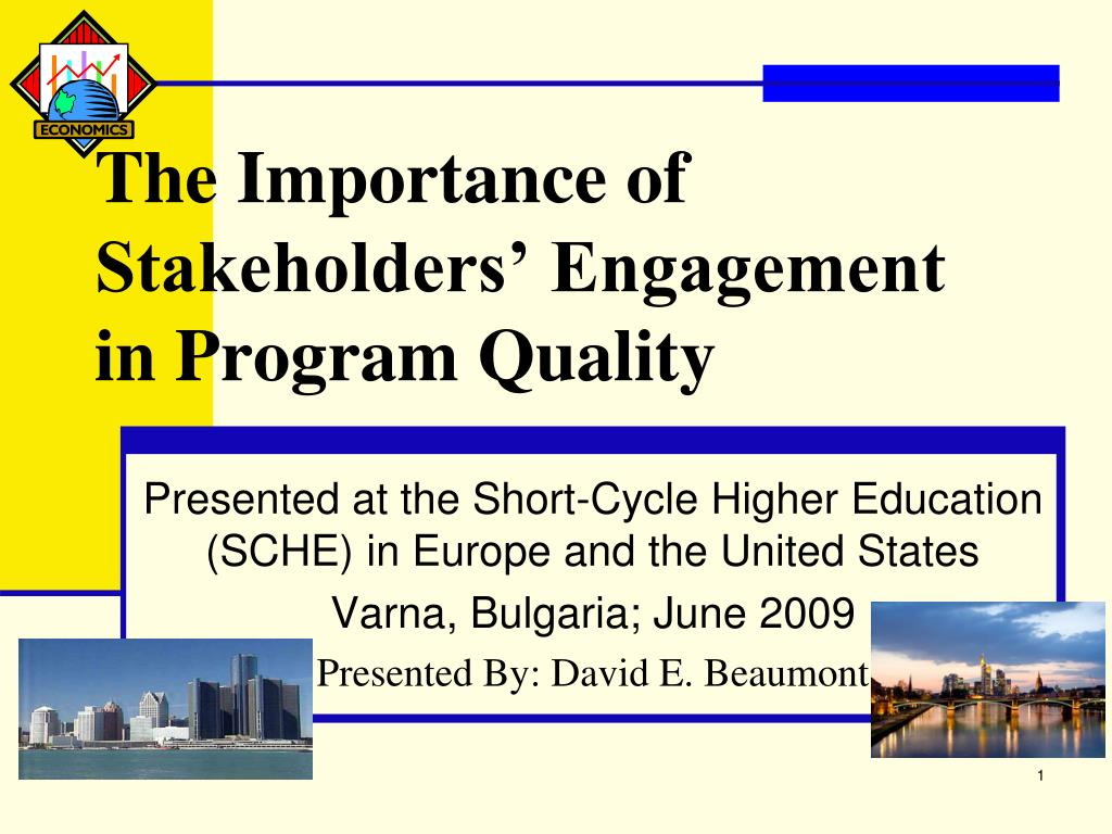 the importance of stakeholders engagement in program quality l.