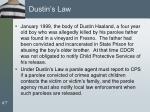 dustin s law
