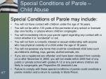special conditions of parole child abuse