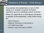 violations of parole child abuse
