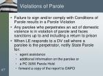 violations of parole