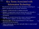 key terms associated with information technology