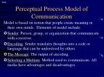perceptual process model of communication