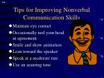 tips for improving nonverbal communication skills