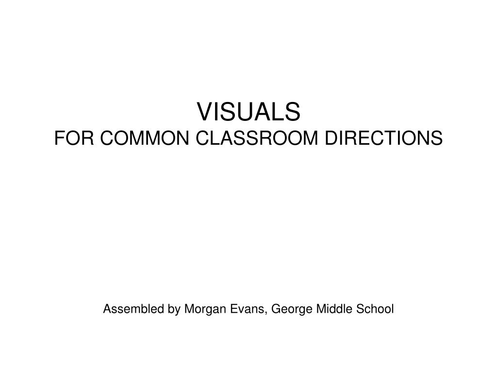 visuals for common classroom directions l.