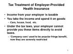 tax treatment of employer provided health insurance