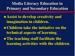 media literacy education in primary and secondary education