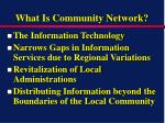 what is community network