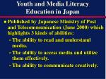 youth and media literacy education in japan