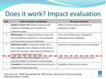 does it work impact evaluation