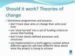 should it work theories of change
