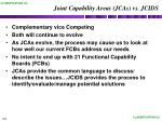 joint capability areas jcas vs jcids