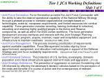 tier 1 jca working definitions slide 3 of 5