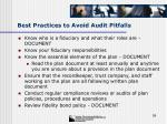 best practices to avoid audit pitfalls