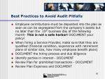 best practices to avoid audit pitfalls60