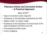 fiduciary duties and corrective action a practical approach82