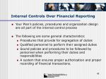 internal controls over financial reporting48
