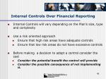 internal controls over financial reporting49