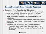 internal controls over financial reporting50