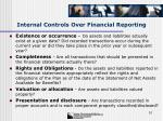 internal controls over financial reporting51