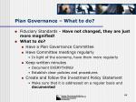 plan governance what to do