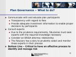 plan governance what to do45