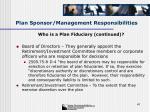 plan sponsor management responsibilities41