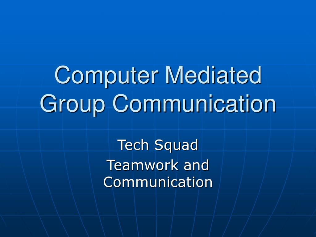 computer mediated group communication l.