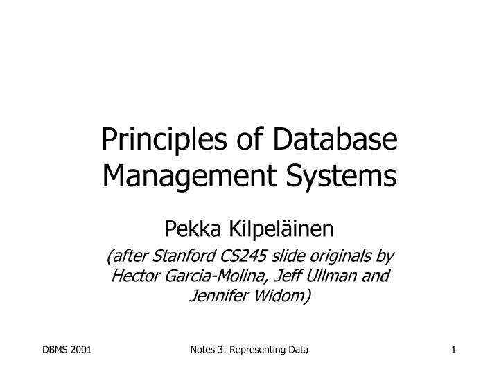 principles of database management systems n.