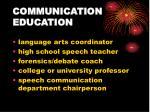 communication education
