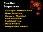 elective sequences