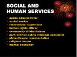 social and human services