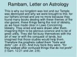 rambam letter on astrology