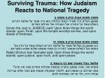 surviving trauma how judaism reacts to national tragedy