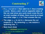 constructing t