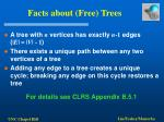facts about free trees