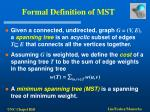 formal definition of mst