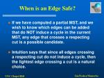 when is an edge safe
