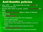 anti semitic policies