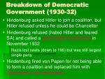 breakdown of democratic government 1930 3238
